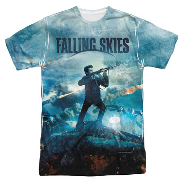 Image for Falling Skies T-Shirt - Sublimated Battle 100% Polyester