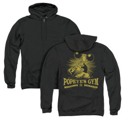 Image for Popeye the Sailor Zip Up Back Print Hoodie - Popeyes Gym