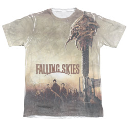Image Closeup for Falling Skies T-Shirt - Sublimated Skitter Head