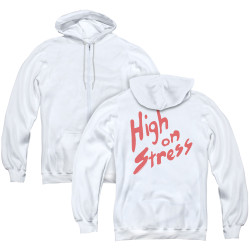 Image for Revenge of the Nerds Zip Up Back Print Hoodie - High on Stress