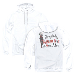 Image for Arkham City Zip Up Back Print Hoodie - Somebody Loves Me