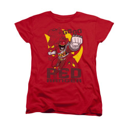 Image for Power Rangers Dino Charge Woman's T-Shirt - Go Red