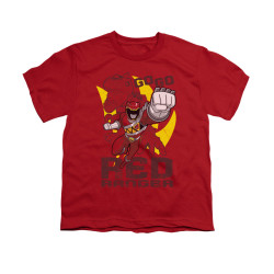 Image for Power Rangers Dino Charge Youth T-Shirt - Go Red