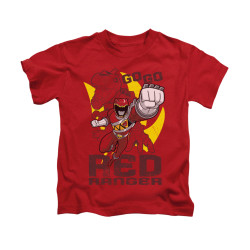 Image for Power Rangers Dino Charge Kids T-Shirt - Go Red