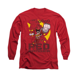 Image for Power Rangers Dino Charge Long Sleeve T-Shirt - Go Red