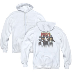 Image for Kiss Zip Up Back Print Hoodie - Throwback Pose