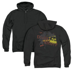 Image for Batman Zip Up Back Print Hoodie - Dark And Scary Night
