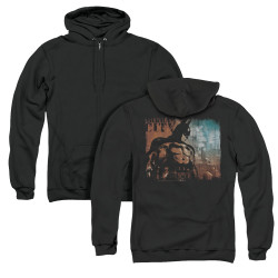 Image for Arkham City Zip Up Back Print Hoodie - City Knockout