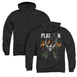 Image for Platoon Zip Up Back Print Hoodie - Graphic