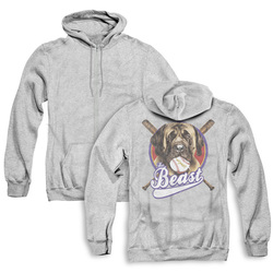 Image for The Sandlot Zip Up Back Print Hoodie - the Beast