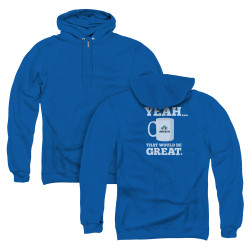 Image for Office Space Zip Up Back Print Hoodie - Yeah...That Would Be Great