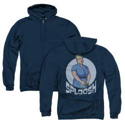 Image for Archer Zip Up Back Print Hoodie - Sploosh
