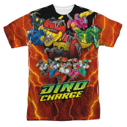 Image for Power Rangers Sublimated T-Shirt - Zord Power 100% Polyester