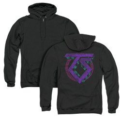 Image for Twisted Sister Zip Up Back Print Hoodie - Symbol