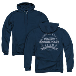 Image for Family Ties Zip Up Back Print Hoodie - Young Republicans Club