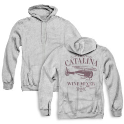 Image for Step Brothers Zip Up Back Print Hoodie - The Catalina Wine MIxer