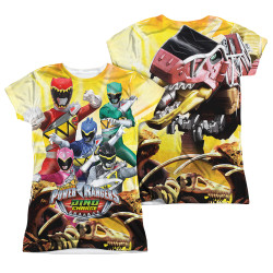 Image Closeup for Power Rangers Girls Sublimated T-Shirt - Charged for Battle