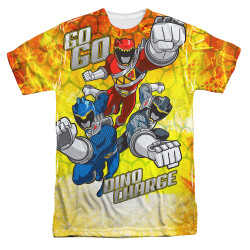 Image for Power Rangers Sublimated T-Shirt - Go Go Dino Charge