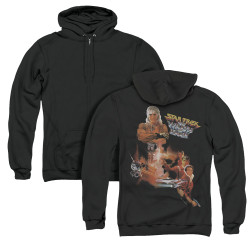 Image for Star Trek Zip Up Back Print Hoodie - The Wrath of Khan Collage
