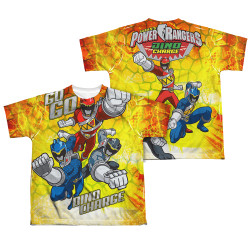 Image Closeup for Power Rangers Youth Sublimated T-Shirt - Go Go Dino Charge