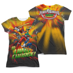 Image Closeup for Power Rangers Girls Sublimated T-Shirt - Hashtag