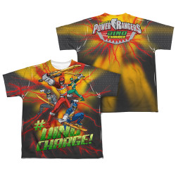 Image Closeup for Power Rangers Youth Sublimated T-Shirt - Hashtag