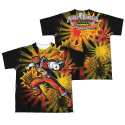 Image Closeup for Power Rangers Youth Sublimated T-Shirt - Red Ranger Burst