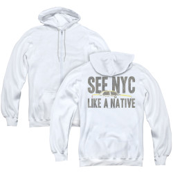 Image for New York City Zip Up Back Print Hoodie - Like a Native