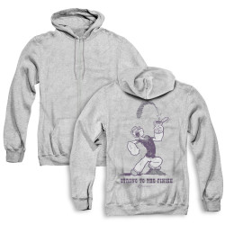 Image for Popeye the Sailor Zip Up Back Print Hoodie - Strong to the Finish