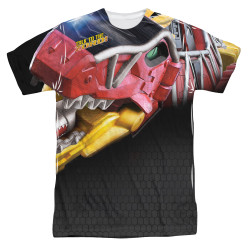 Image for Power Rangers Sublimated T-Shirt - Big Zord 100% Polyester