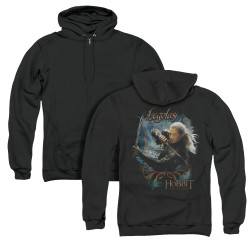 Image for The Hobbit Zip Up Back Print Hoodie - Knives