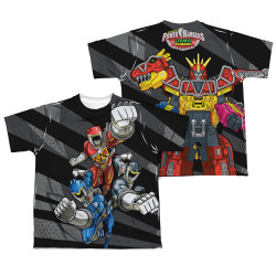Image Closeup for Power Rangers Youth Sublimated T-Shirt - Let's Bolt
