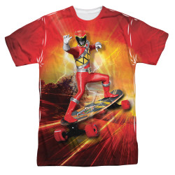 Image for Power Rangers Sublimated T-Shirt - Skater 100% Polyester