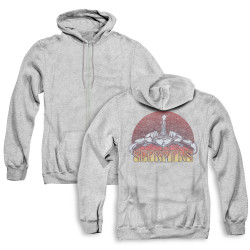 Image for Scorpions Zip Up Back Print Hoodie - Color Logo Distressed