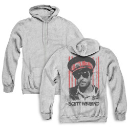 Image for Scott Weiland Zip Up Back Print Hoodie - Black Hat