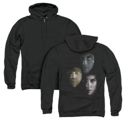 Image for Harry Potter Zip Up Back Print Hoodie - Hero Heads