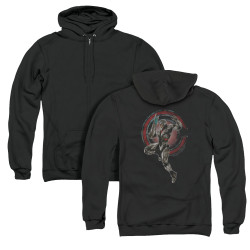 Image for Justice League Movie Zip Up Back Print Hoodie - Cyborg