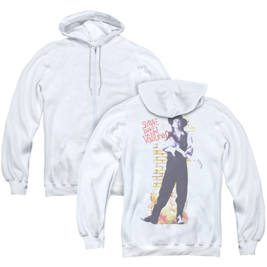 Image for Stevie Ray Vaughan Zip Up Back Print Hoodie - Standing Tall