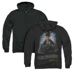 Image for Fantastic Beasts: the Crimes of Grindelwald Zip Up Back Print Hoodie - Dumbledore