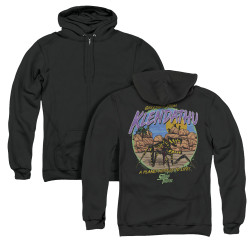 Image for Starship Troopers Zip Up Back Print Hoodie - Hostile Planet
