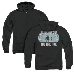 Image for Star Trek Into Darkness Zip Up Back Print Hoodie - You Are Not Safe