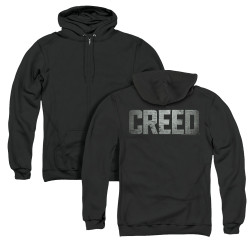 Image for Creed Zip Up Back Print Hoodie - Logo