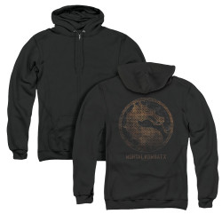 Image for Mortal Kombat X Zip Up Back Print Hoodie - Metal Seal