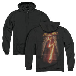 Image for Flash TV Show Zip Up Back Print Hoodie - Flash Ave.