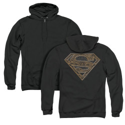 Image for Superman Zip Up Back Print Hoodie - Aztec Shield
