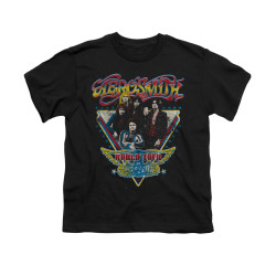 Image for Aerosmith Youth T-Shirt - Triangle Stars
