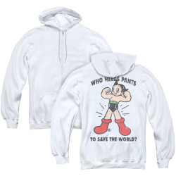 Image for Astro Boy Zip Up Back Print Hoodie - Who Needs Parts