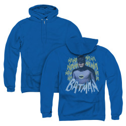 Image for Batman Classic TV Zip Up Back Print Hoodie - Theme Song