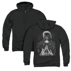 Image for Labyrinth Zip Up Back Print Hoodie - Castle
