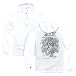 Image for Andy Black Zip Up Back Print Hoodie - Trumpets Sound